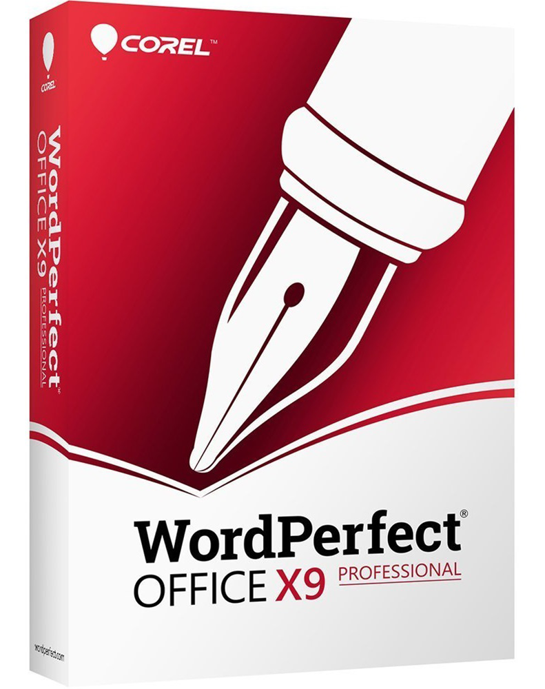 WordPerfect Office X9 – Professional Edition Upgrade