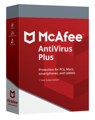 McAfee Antivirus Plus (10 PC - 1 year)