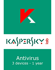 Kaspersky Antivirus (3 devices - 1 year)