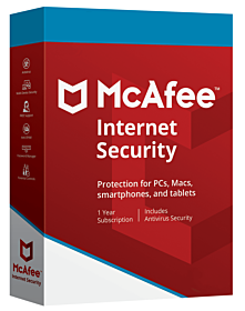 McAfee Internet Security (3-devices 1-year)