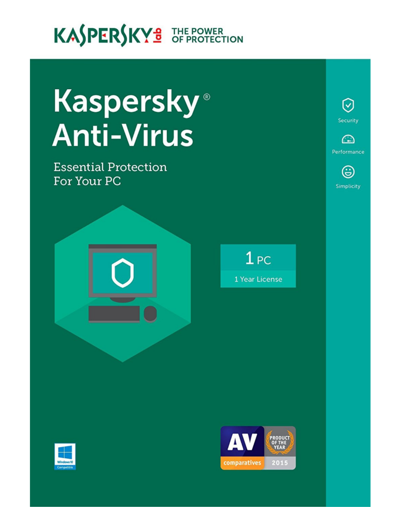 Kaspersky Anti-Virus 2018 (1 year - 1 PC)