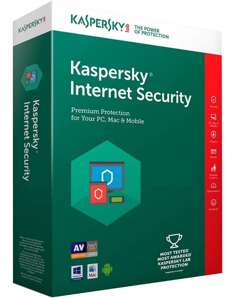 Kaspersky Internet Security 2018 (1 year - 10 devices)