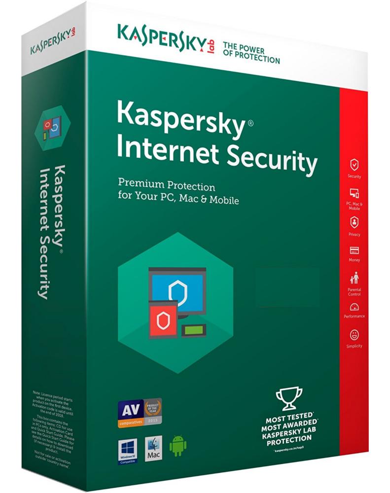 Kaspersky Internet Security 2018 (1 year - 1 device)