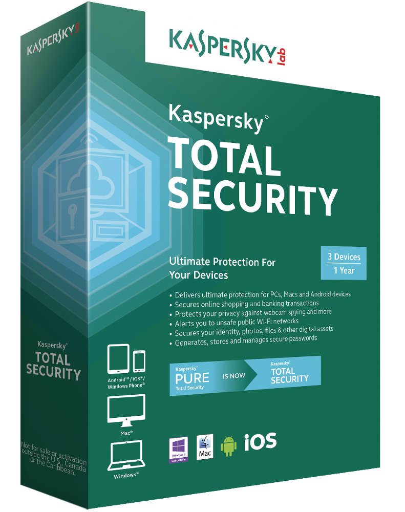 Kaspersky Total Security 2016 Multi-Device (3 devices)