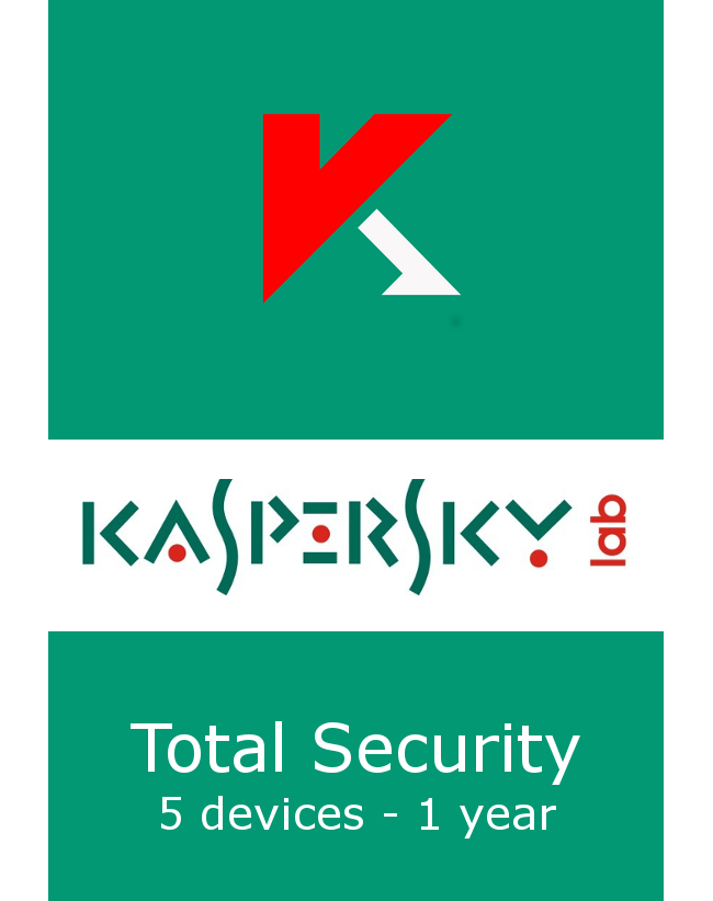 Kaspersky Total Security (5 devices - 1 year)