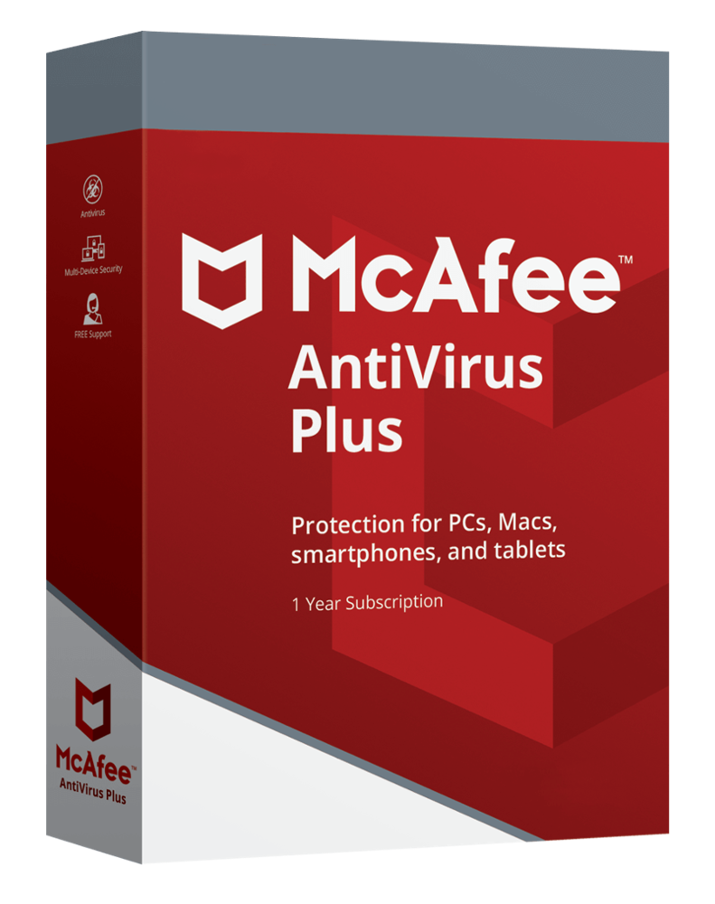 McAfee Antivirus Plus (10 PC - 1 year)