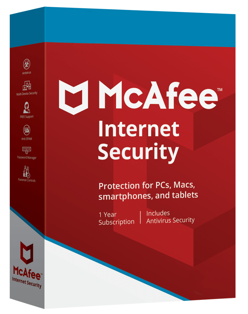 McAfee Internet Security (1-device 1-year)