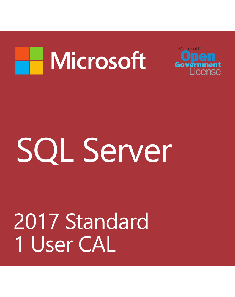 Microsoft SQL User CAL 2017 (License only)