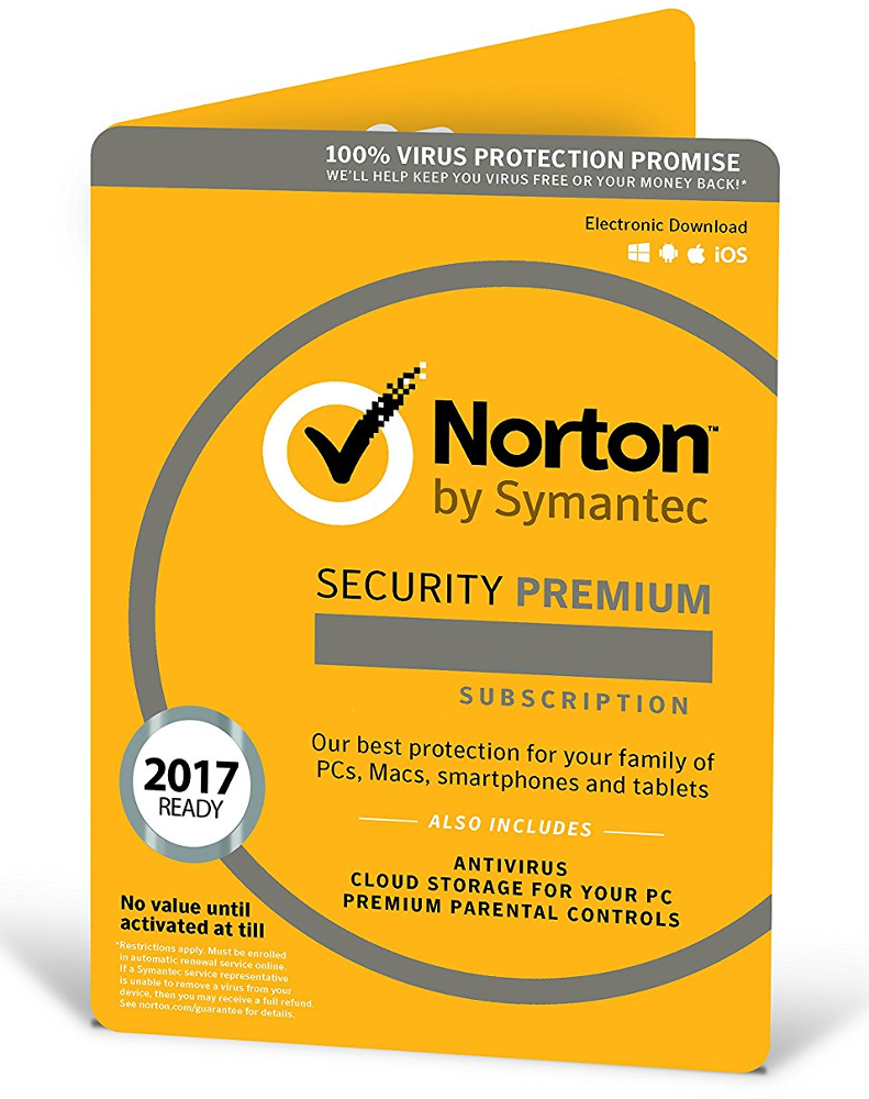 Norton Security Premium (10 devices - 1 year)